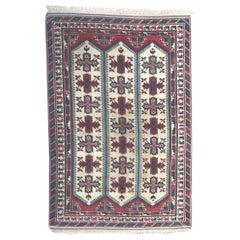 Vintage Room Size Turkish Kars Rug