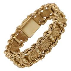 Vintage Rope Gold Bracelet