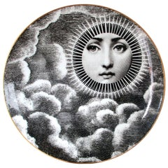 Vintage Rosenthal Fornasetti Plate, Motiv 18, Lina Cavalieri, 1980s