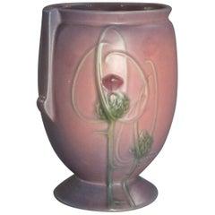 Vintage Roseville Art Pottery Futura Thistle Vase, circa 1930