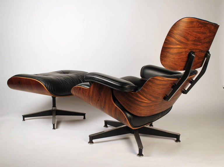 Vintage Rosewood Charles Eames 670 Lounge Chair & 671 Ottoman for Herman Miller For Sale 5