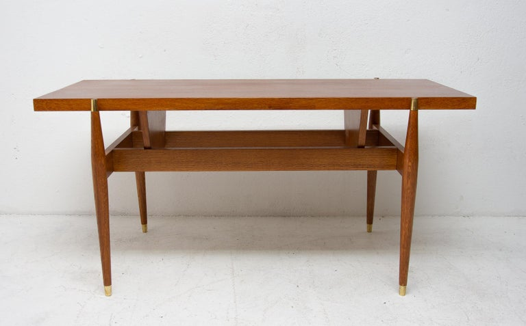 Modern Vintage Rosewood Coffee Table from Czechoslovakia, 1970s For Sale