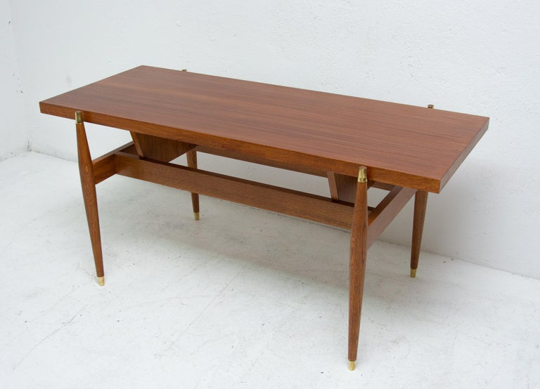 Late 20th Century Vintage Rosewood Coffee Table from Czechoslovakia, 1970s For Sale