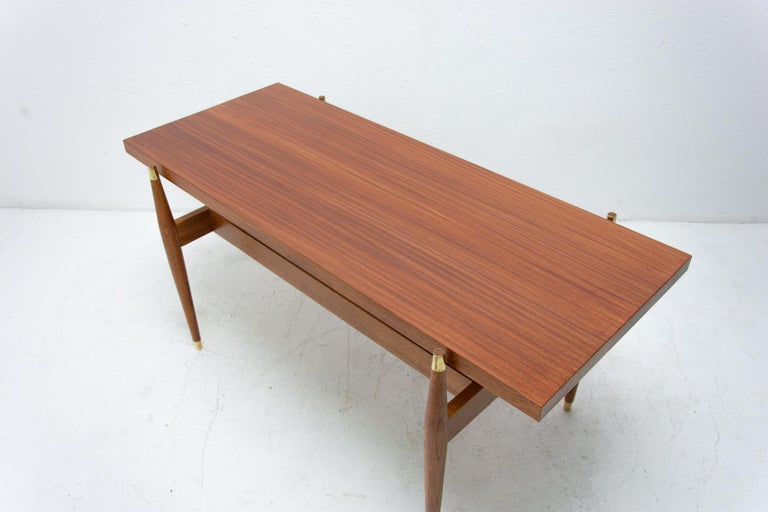 Vintage Rosewood Coffee Table from Czechoslovakia, 1970s For Sale 3