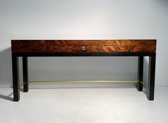 Vintage Rosewood Console Entry Table Cabinet