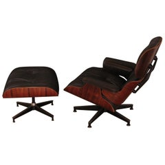 Vintage Rosewood Eames Lounge Chair and Ottoman