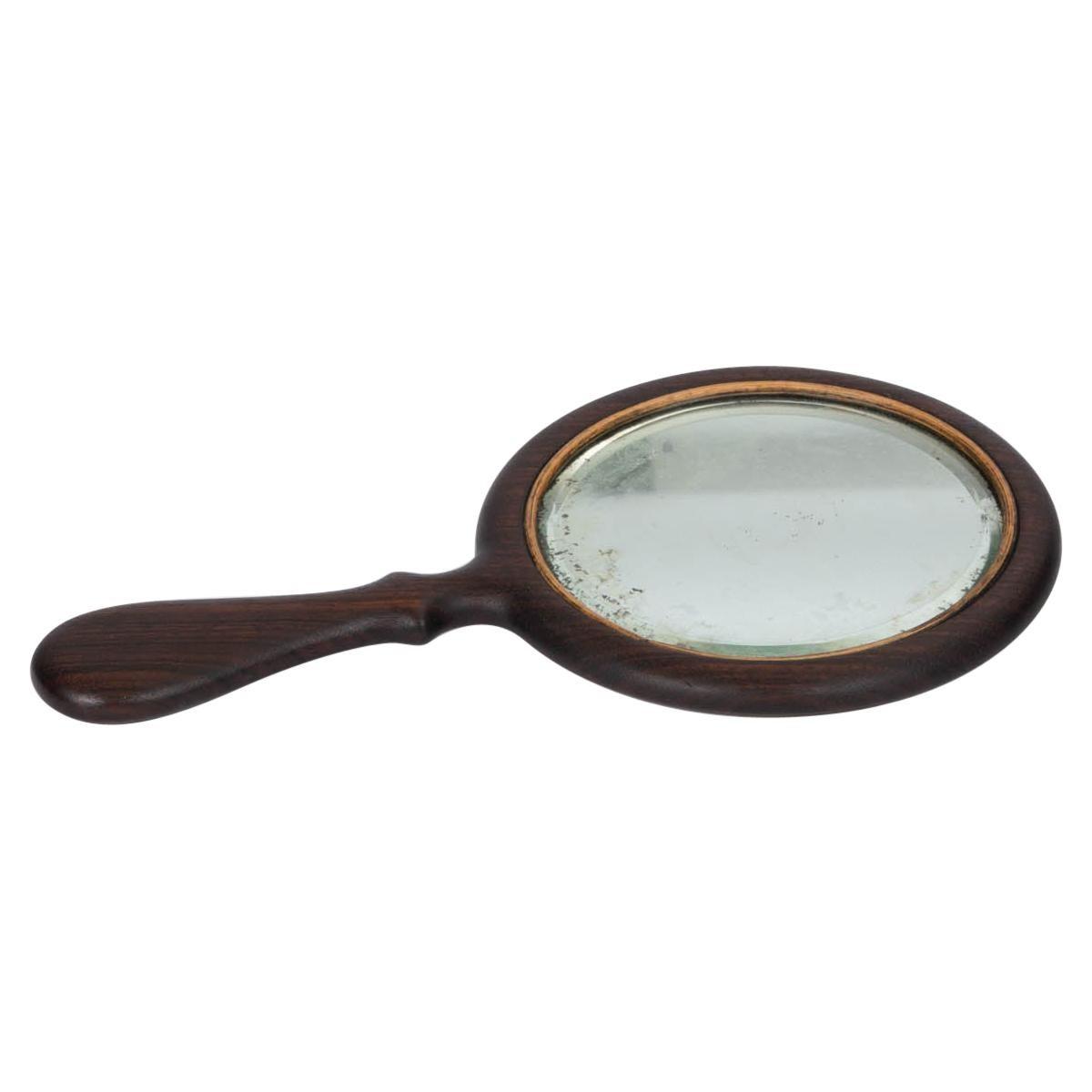 Vintage Rosewood Hand Mirror
