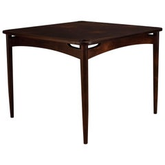 Vintage Rosewood Norma Game Table by Sergio Rodrigues