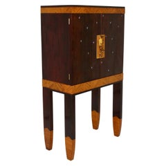 Vintage Rosewood Secretary Style of Koloman Moser Portois & Fix, 20th Century