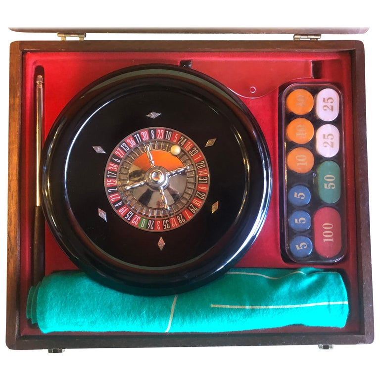 Vintage Roulette Set in Case by Rottgames For Sale