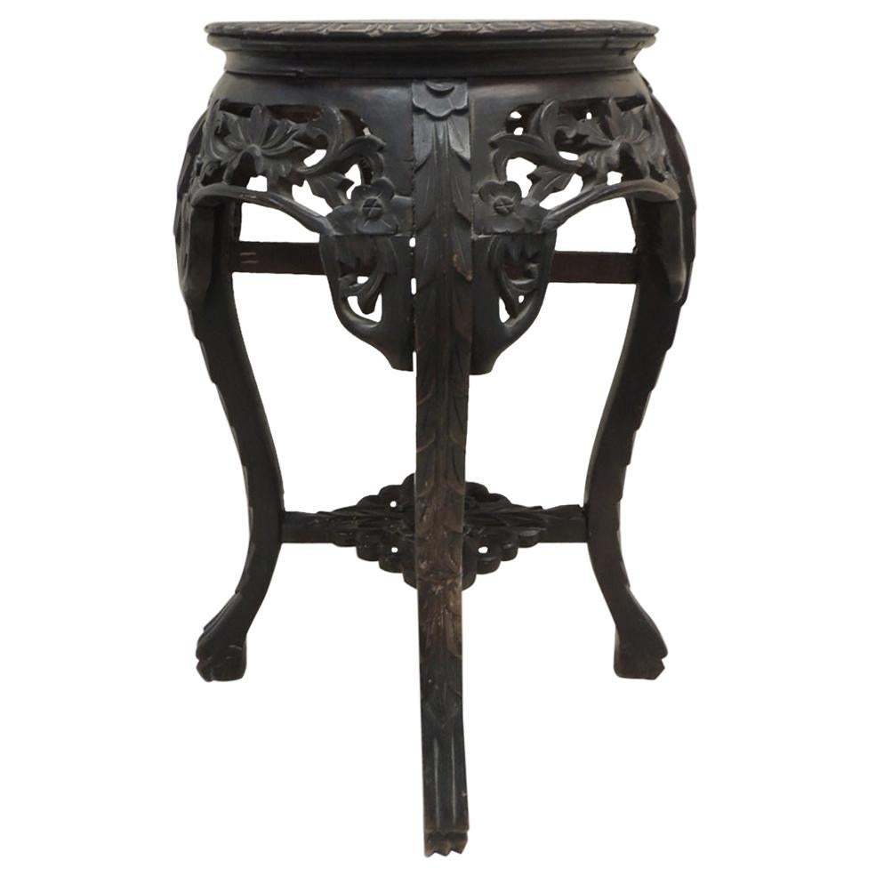Vintage Round Chinese Export Table or Stand