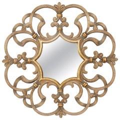 Vintage Round Dauphine Mirror by Harrison Gil