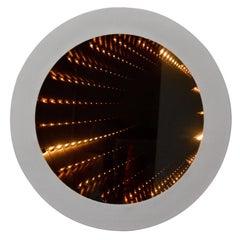 Vintage Round Infinity Mirror