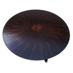 Vintage Round Mahogany Coffee Table by Scott Thomas