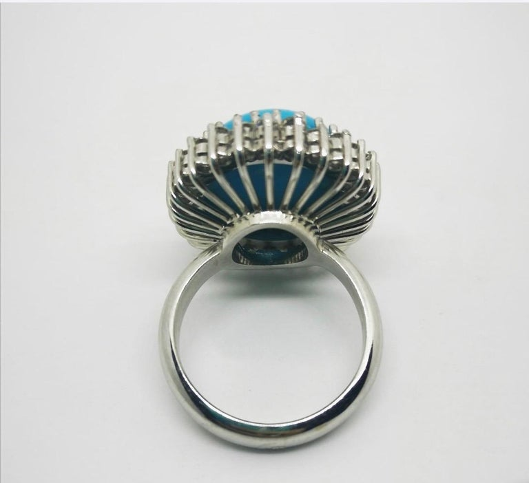 Women's or Men's Vintage Round Pearl Ruby Diamond Cocktail Ring For Sale