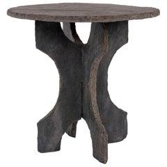 Vintage Round Slate Table
