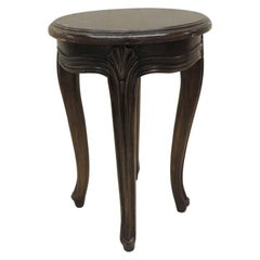 Vintage Round Tabouret With Louis XV Style Legs
