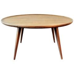 Vintage Round Teak Coffee Table
