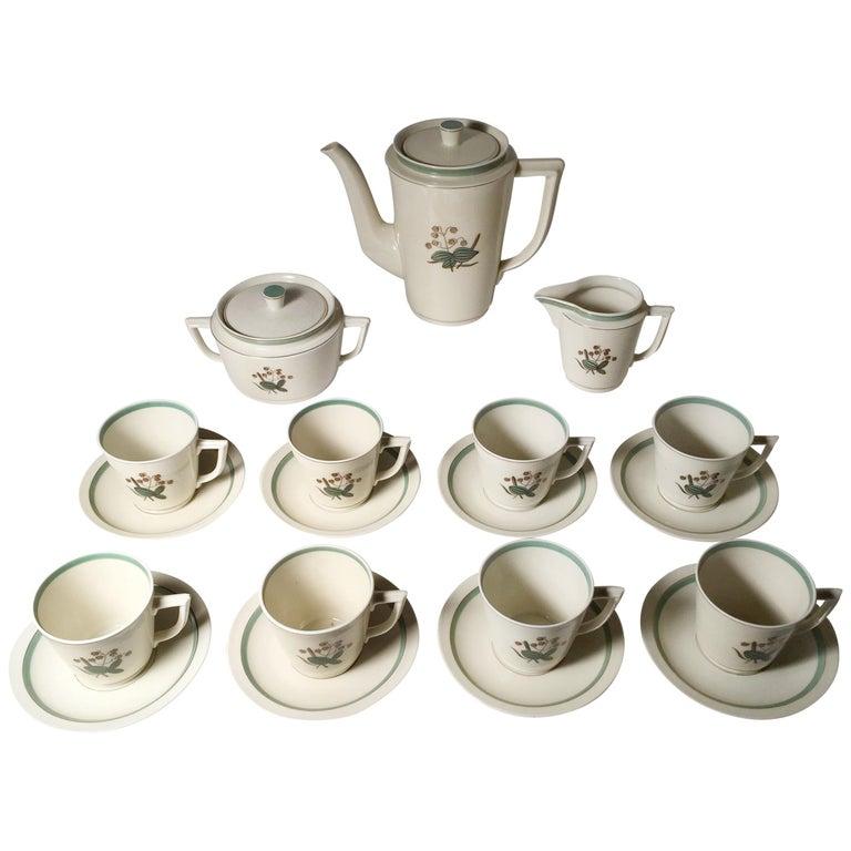 72b9d723e47 Vintage Royal Copenhagen Denmark Porcelain Coffee / Tea Service Set For Sale