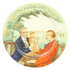 Vintage Royal Doulton Golf Plate, 19th Hole, in Ceramic