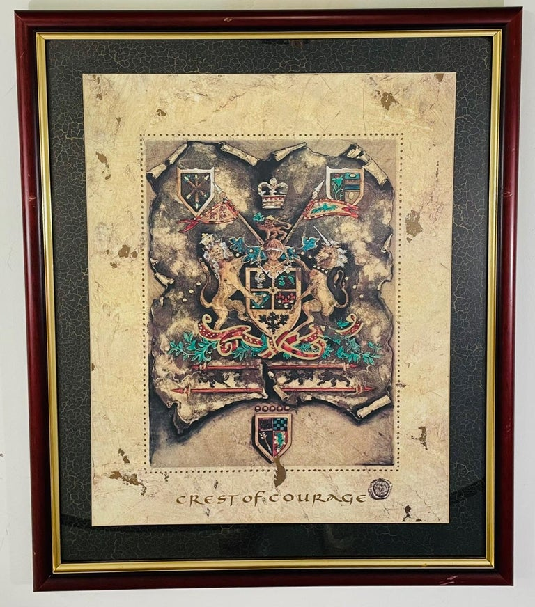Vintage Royal English Coat of Arms Print, a Pair For Sale 4