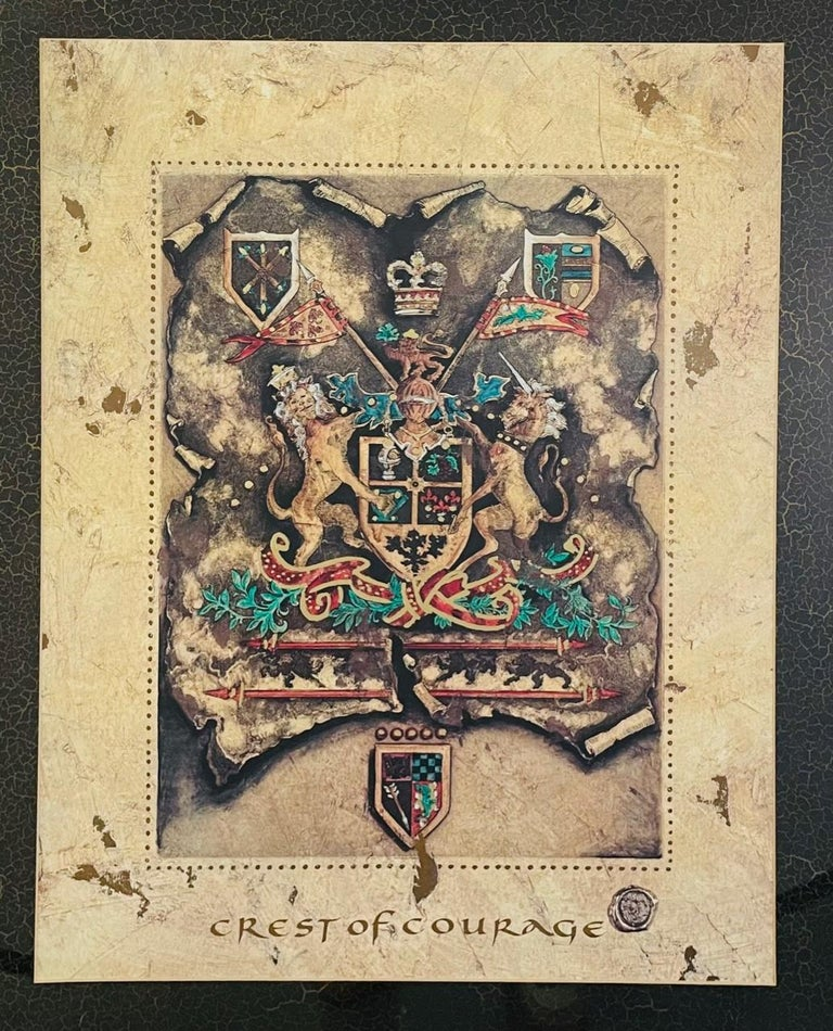 Vintage Royal English Coat of Arms Print, a Pair For Sale 5