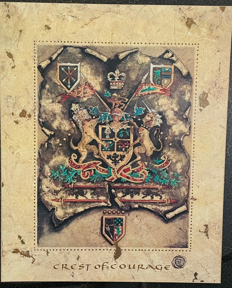 Vintage Royal English Coat of Arms Print, a Pair For Sale 6