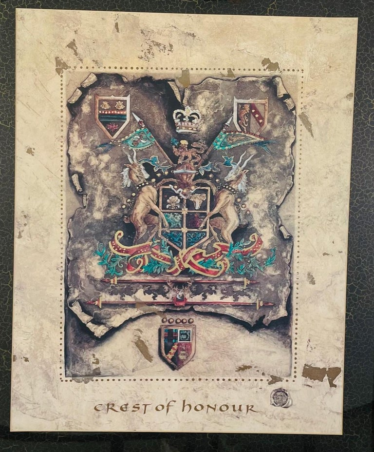 Other Vintage Royal English Coat of Arms Print, a Pair For Sale