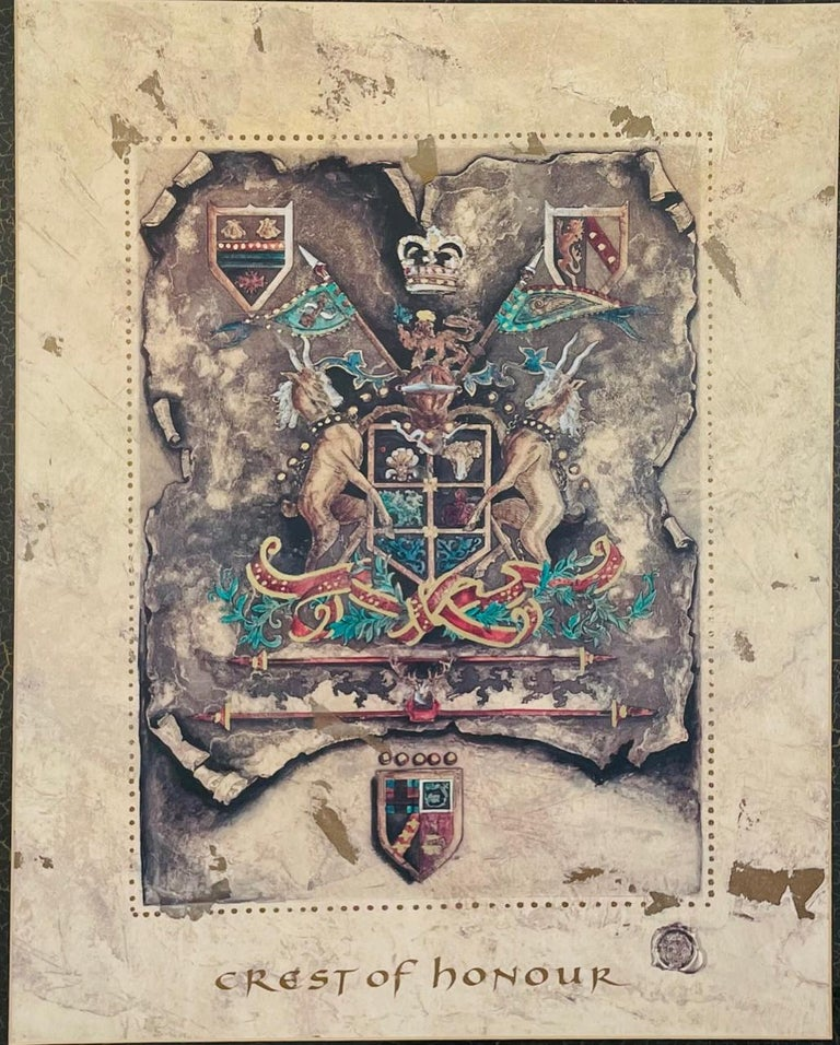 European Vintage Royal English Coat of Arms Print, a Pair For Sale