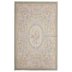 Vintage Rug Aubusson Style Living Room Rug Handmade Carpet Tapestry