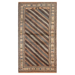 Vintage Rug Caucasian Striped Rug Handmade Carpet from Shirvan Area Rug