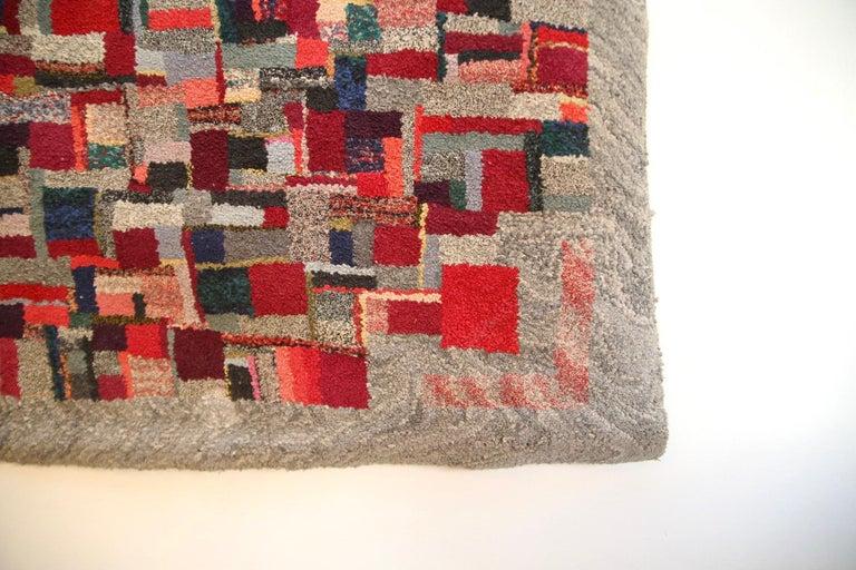 Mid-Century Modern Vintage Rug Tapestry, 1957-1960 For Sale