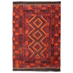 Vintage Rugs, Handmade Multicolored Kilim Rugs Turkish Carpet from Anatolia