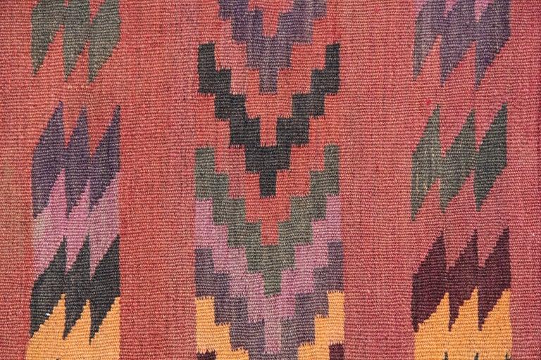 Vegetable Dyed Vintage Rugs Oriental Handmade Multicolored Kilim Rugs Turkish Carpet