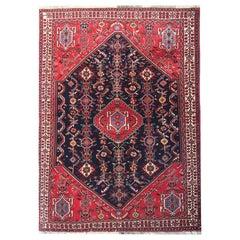 Vintage Rugs Handwoven Carpet Rug, Tribal Wool Pile Area Rug