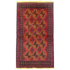 Vintage Rugs Oriental Area Rug, Handmade Wool Carpet