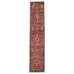 Vintage Runners Handmade Carpet Oriental Rugs Red Wool Stair Runner