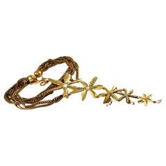 Vintage Runway CHRISTIAN LACROIX Opulent Tiered Flower Bib Necklace
