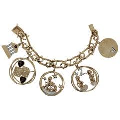 Vintage Ruser 'Beverly Hills' Charm Bracelet Signed, circa 1950