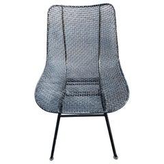 Vintage Russell Woodard Sculptura Metal Mesh Sculptura Chair