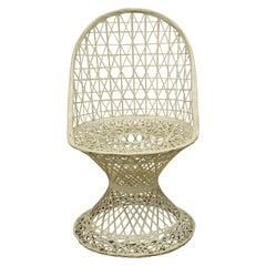 Vintage Russell Woodard Woven Spun Fiberglass Mid Century Dining Side Chair