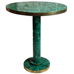 Vintage Russian Malachite Side or Occasional Table