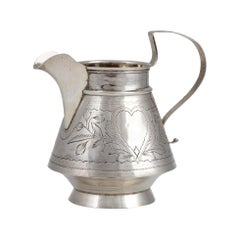 Vintage Russian Silver Milk Jug by I.L. Prokofiev, Russia, Early 20th Century