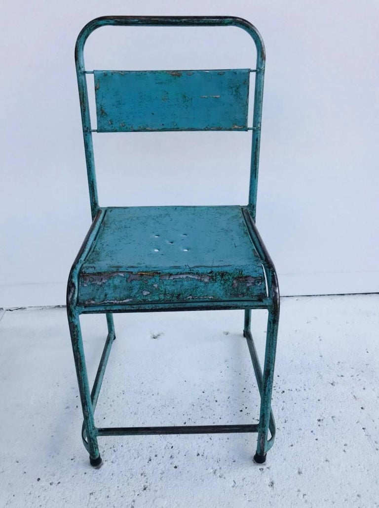 Incredible Vintage Russian Stacking Metal Chairs Download Free Architecture Designs Scobabritishbridgeorg