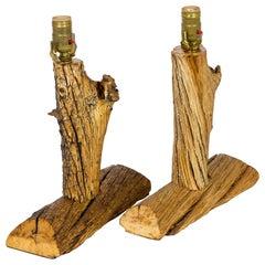 Vintage Rustic Branch Table Lamps 'Pair'