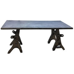 Vintage Rustic Industrial Work Table