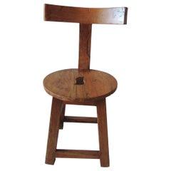 Vintage Rustic Klismos Style Back Side Chair