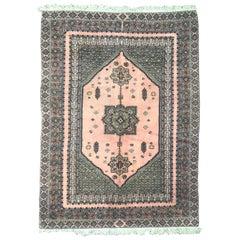 Vintage Rustic Moroccan Rabat Design Rug