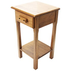 Vintage Rustic Western Oak Night Stand End Table from Yellowstone National Park