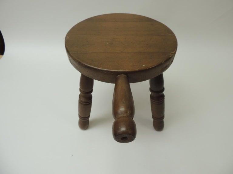 Sensational Vintage Rustic Wood Milking Stool Pabps2019 Chair Design Images Pabps2019Com